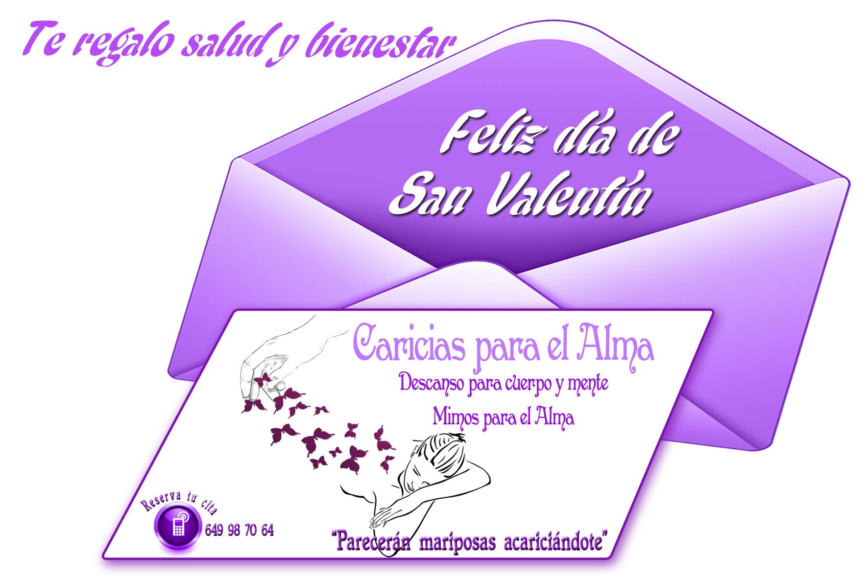 Tarjeta Caricias par ael Alma