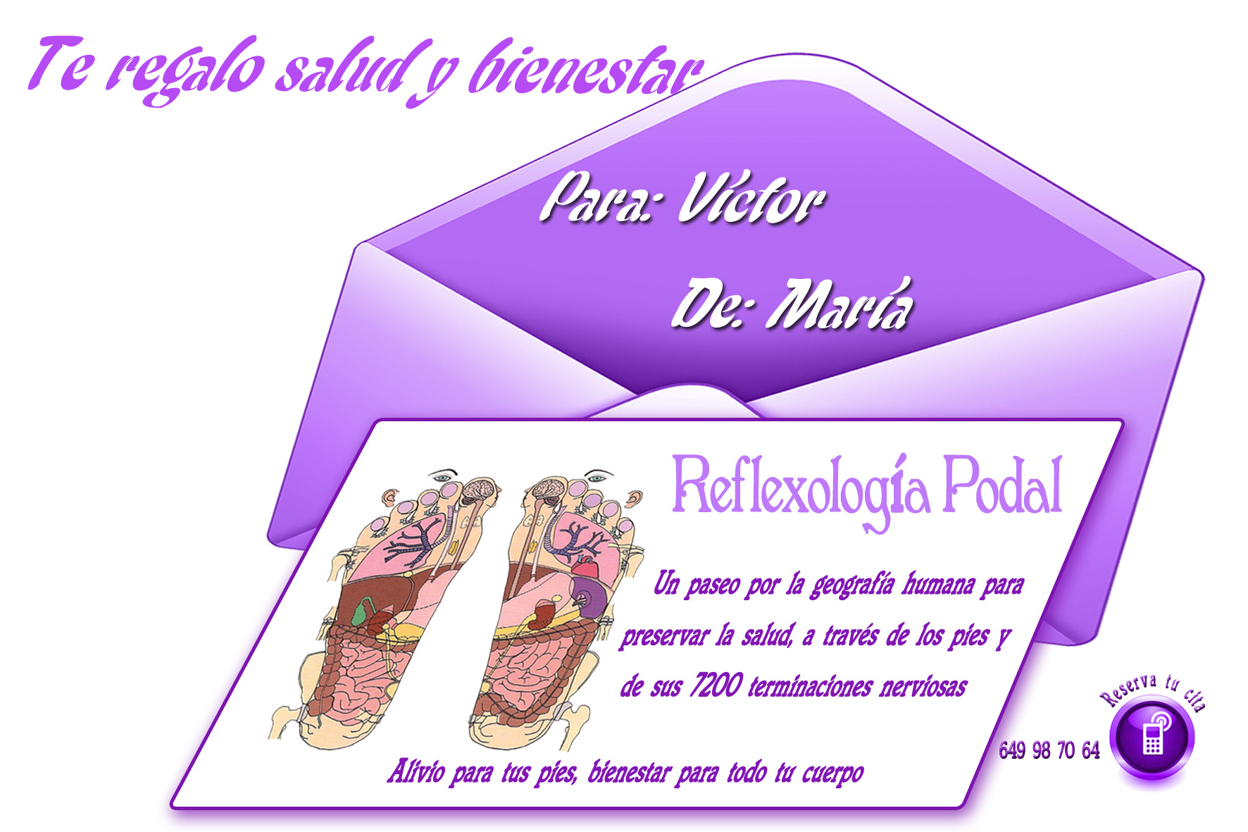 Tarjeta Reflexología Podal