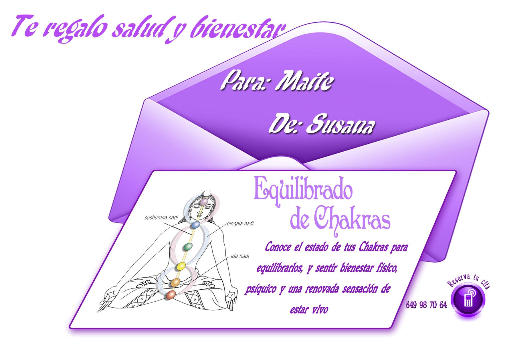Tarjeta equilibrado de chakras